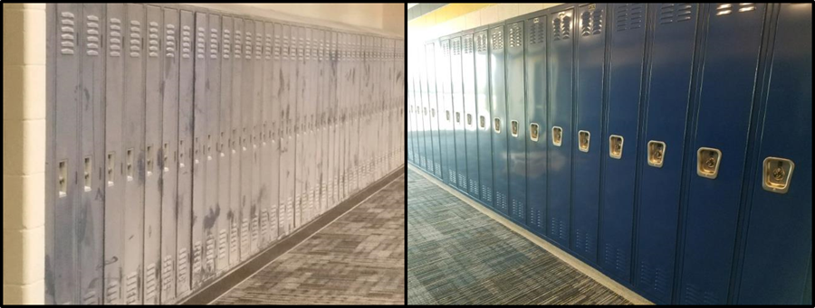Before and after of school lockers