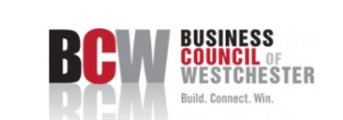 BCW Business Council of Westchester logo, tagline: Build. Connect. Win.